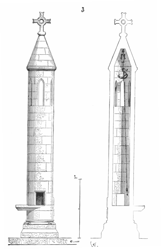 Konstrukcja przykładowej latarni zmarłych.
