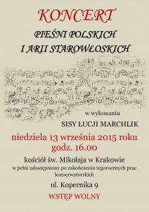 Koncert piesni polskich i arii strowłoskich