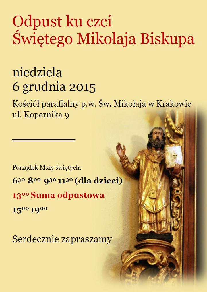 Zaproszenie na uroczystości odpustowe ku czci św. Mikołaja…