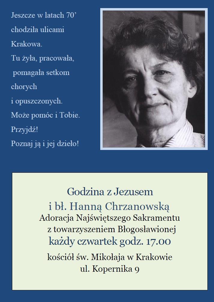 Czwartkowe adoracje z bł. Hanną Chrzanowską