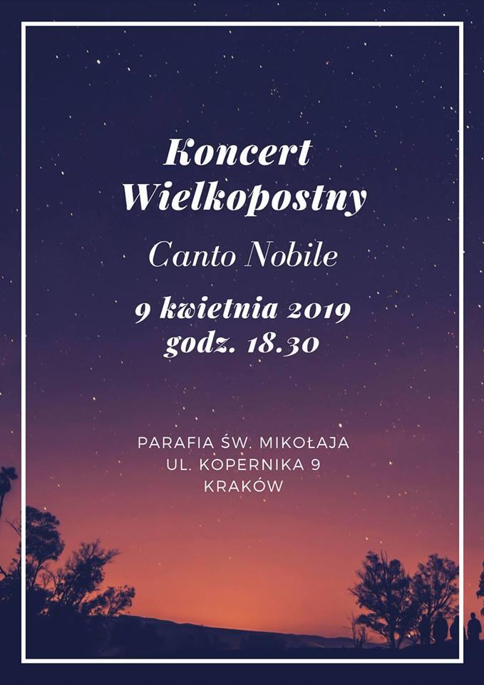 Koncert wielkopostny w kościele św. Mikołaja 09.04.2019 – zaproszenie