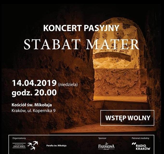 Koncert pasyjny Stabat Mater 14.04.2019 – zaproszenie
