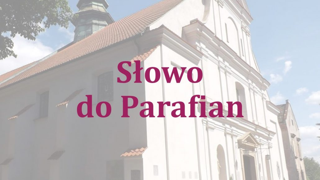Słowo do Parafian 22.03.2020
