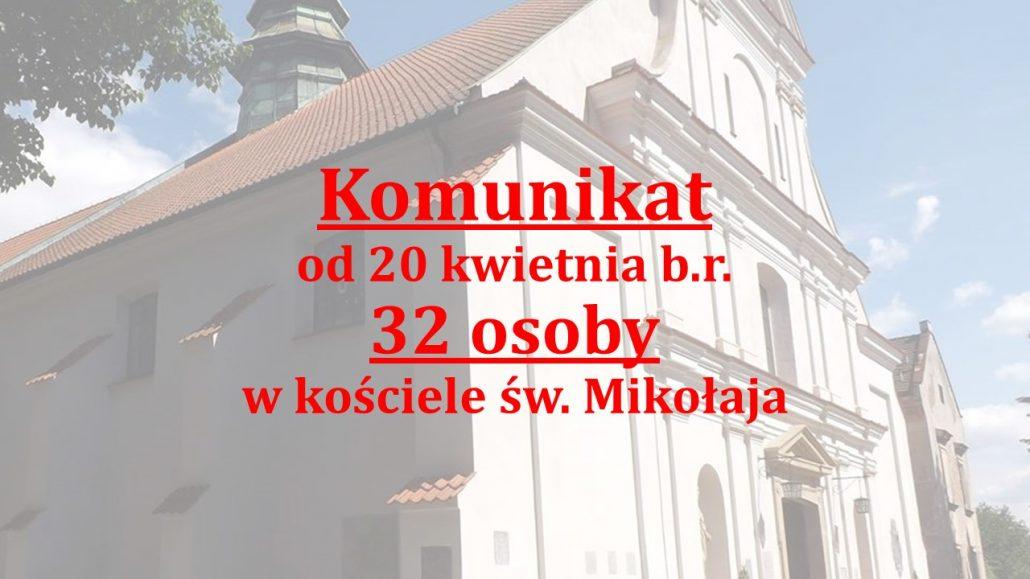 Ilość osób w kościele od 20.04.2020 r.