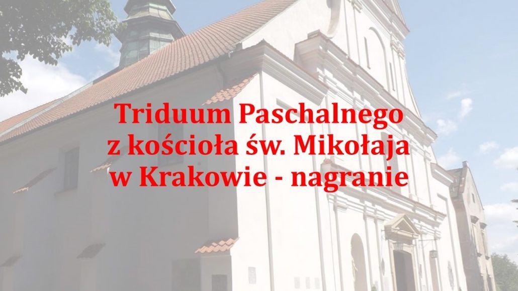 Liturgia Wielkiego Piątku – transmisja z kościoła św. Mikołaja, godz. 18.00