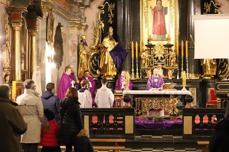 Liturgia stacyjna w kościele świętego Mikołaja w Krakowie, 20.03.2021 r.
